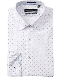 Report Collection - Floral Print Slim Fit Dress Shirt - Lyst