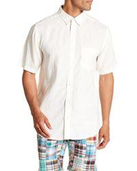 Vintage 1946 - Short Sleeve Linen Pocket Regular Fit Shirt - Lyst
