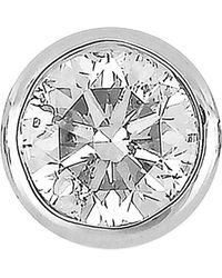 Bony Levy 14k White Gold Single Bezel Set Diamond Single Stud Earring - Metallic