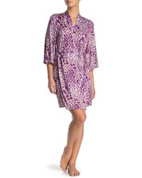 Josie Short Kimono Sleeve Robe - Pink