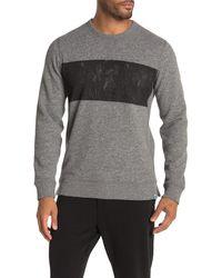 Jason Scott Distressed Crew Neck Sweatshirt - Gray