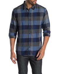 7 Diamonds Closer To You Plaid Flannel Shirt - Blue