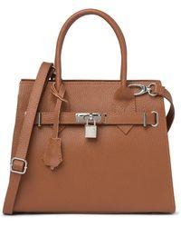 Giorgio Costa Leather Top Handle Satchel - Multicolor