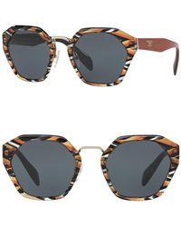 Prada - Women's Irregular Heritage 55mm Sunglasses - Lyst
