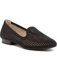 Me Too - Yale Perforated Nubuck Smoking Flats - Lyst