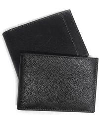 Boconi Leather Slimster Wallet In Black At Nordstrom Rack