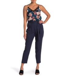 June & Hudson - Crepe Trouser Pants - Lyst