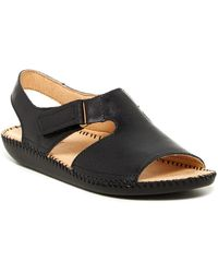 Naturalizer Scout Leather Sandal - Black