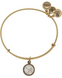 ALEX AND ANI - April Birthstone Expandable Bangle - Lyst