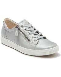 Ecco - Soft 7 Side Zip Sneaker - Lyst
