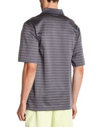 Bugatchi - Stripe Mini Check Polo - Lyst