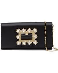 Ted Baker - Claira Leather Buckle Matinee Wallet With Chain - Lyst