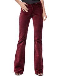 PAIGE Genevieve Flared Velvet Pants