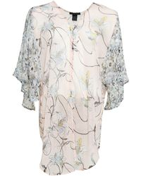 Steve Madden Iris Bloom Print Kimono - Multicolor