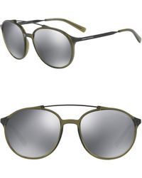 Armani Exchange 57mm Injected Round Sunglasses - Gray