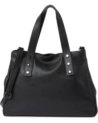 Luisa Vannini Top Handle Leather Bag In Nero At Nordstrom Rack - Black