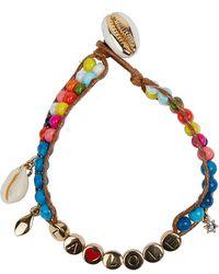 Rebecca Minkoff La Love Beaded Shell Charm Bracelet - Multicolor