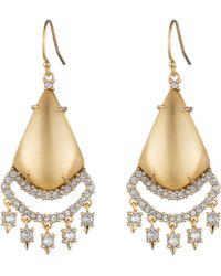 Alexis Bittar Crystal Chandelier Earrings - Metallic