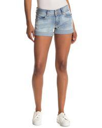 Hudson Jeans Ruby Mid Thigh Denim Shorts - Blue