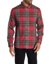 7 Diamonds Young Blood Plaid Flannel Shirt - Red