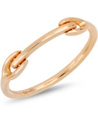 Bony Levy - 14k Rose Gold Bar Accent Ring - Lyst