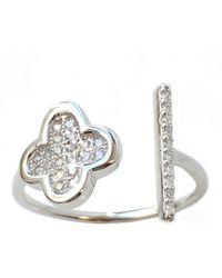 Charlene K Sterling Silver Cz Ring - Metallic