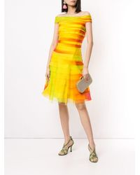 Ralph Lauren Collection Off The Shoulder Layered Dress - Yellow