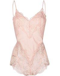 Zimmermann Lace-trimmed Cotton Bodysuit - Pink