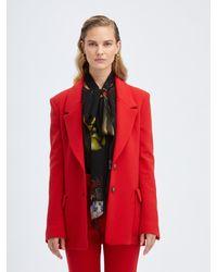 Oscar de la Renta Scarlett Suiting Jacket - Red