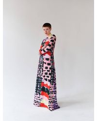 Tereza Rosalie Kladosova Patchwork Long Dress Lila - Red