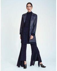 Jovana Markovic Ana Leather Jacket - Blue