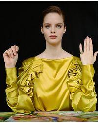 ROCKAH. Pinky Signet Mano Figa - Yellow
