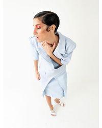 BLIKVANGER Light Blue Leather Dress