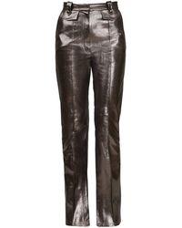 BLIKVANGER Shiny Brown Pants