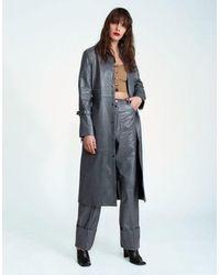Jovana Markovic Uma Leather Coat - Gray