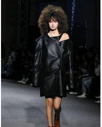 BLIKVANGER Black Cut Blazer-dress