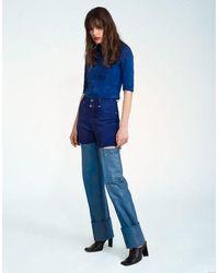 Jovana Markovic Tajra Leather Pants - Blue