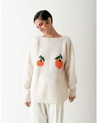 BLIKVANGER Nude Tangerine Knitted Top - Multicolor