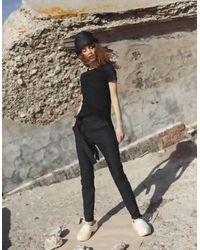BETWEEN LAB Pants With Knee Pocket - Black