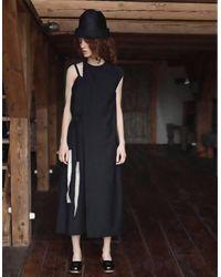 BETWEEN LAB Thin-wool Dress - Black