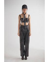 JENN LEE Leather Short Corset - Black