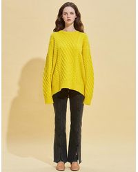 RSVP Lambs Wool Fisherman Knit - Yellow