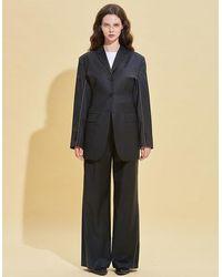 RSVP New-look Wool Blazer - Gray