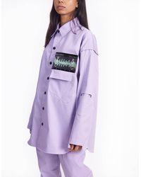 BISKIT Frequency Lavender Shirt - Purple