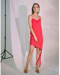 Akosée Ladder Of Love Short Slip Dress Red