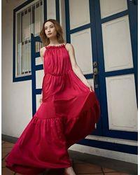 Akosée Mae Parachute Dress In Pink