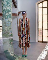 "Tereza Rosalie Kladosova Double Wave ""a"" Dress - Multicolor"