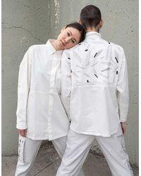 BISKIT 'space Debris' Print White Shirt