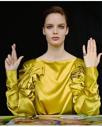 ROCKAH. Pinky Signet Mano Fortuna - Yellow