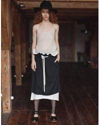 BETWEEN LAB Double Skirt - Black